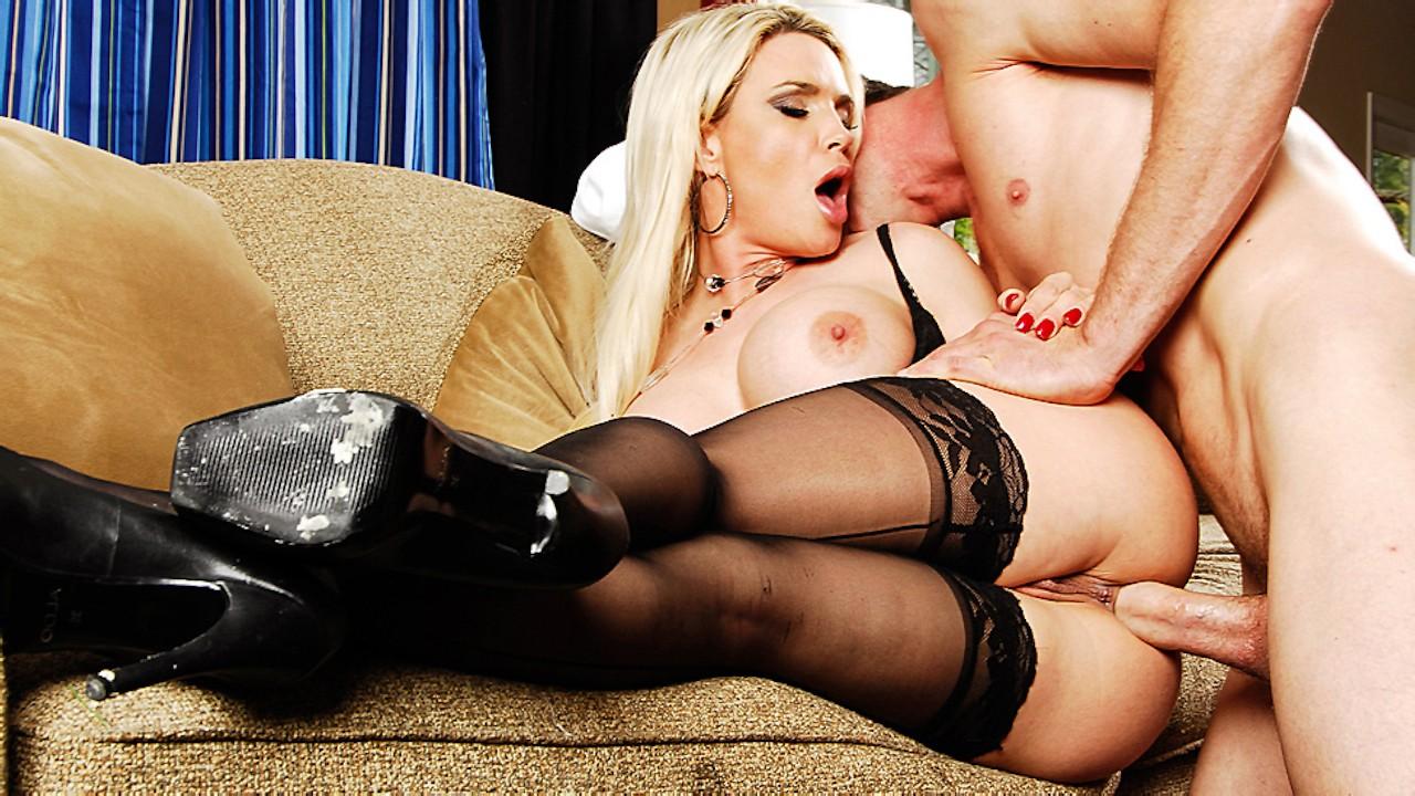 Dane Jones Big Tits Blonde In Stockings And Heels Hard Fuck And Creampie