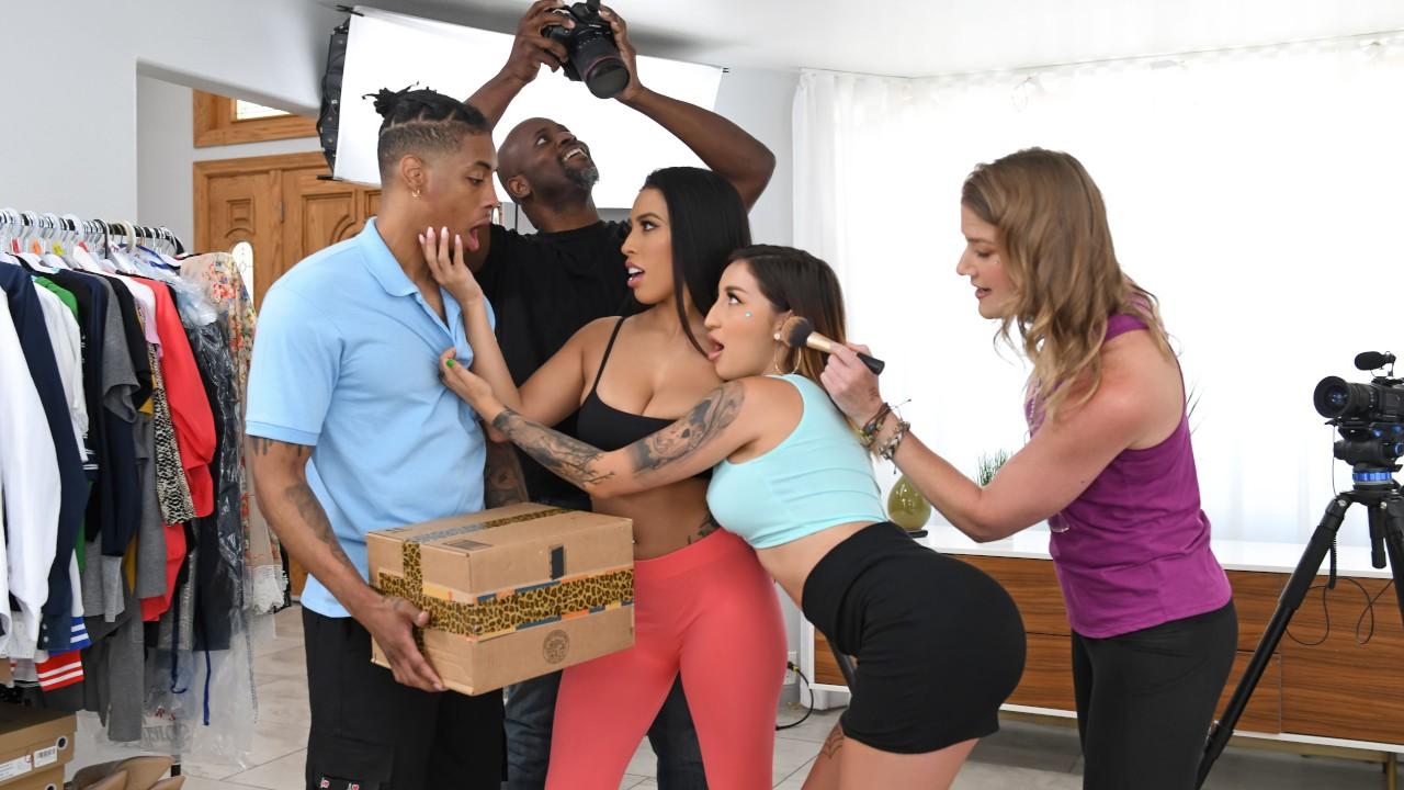 Delivering On A Porno Set