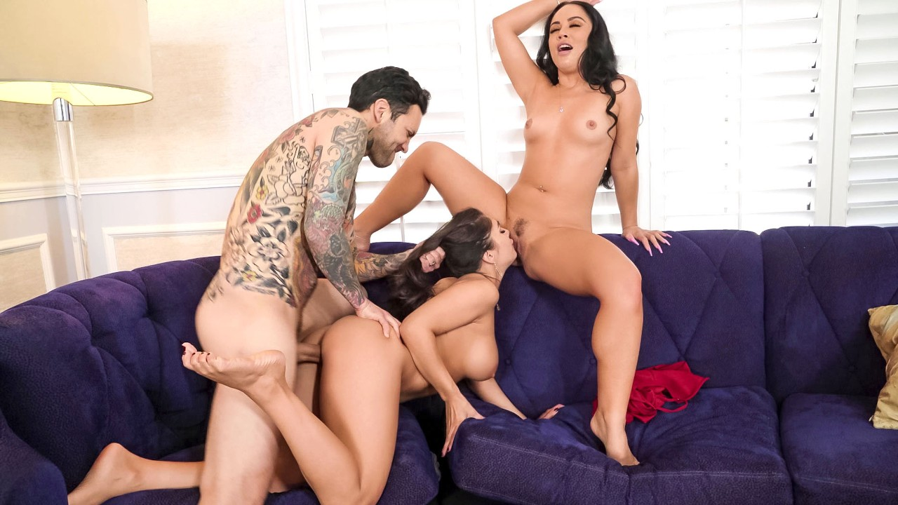 Two Wives, One Cock, Kristina Rose, Tru Kait, [Brazzers]