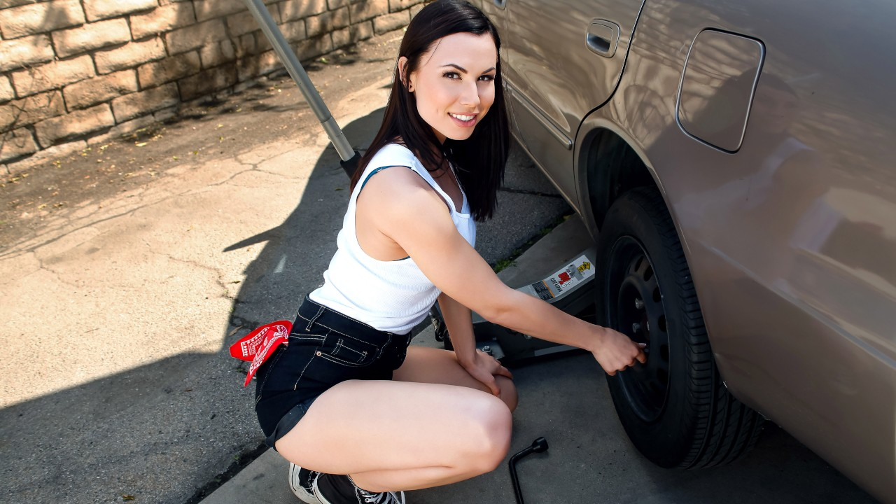 Rotating Her Tires