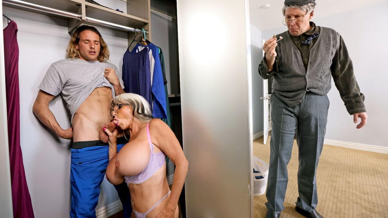 Sneaky Grandma, Sally D'Angelo, Tyler Nixon, [Brazzers]