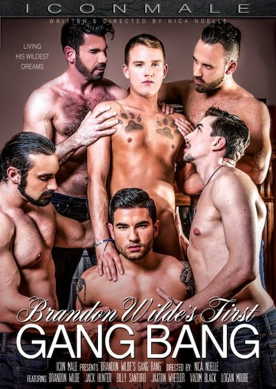 Brandon Wilde's First Gangbang - Billy Santoro, Brandon Wilde, Jack Hunter, Logan Moore, Vadim Black, Jaxton Wheeler