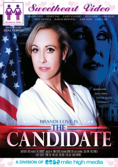 The Candidate Porn DVD on Mile High Media with Bree Daniels, Casey Calvert, Kira Noir, Julia Ann, Karlie Montana, Penny Pax, Uma Jolie, Brandi Love, Lyra Law
