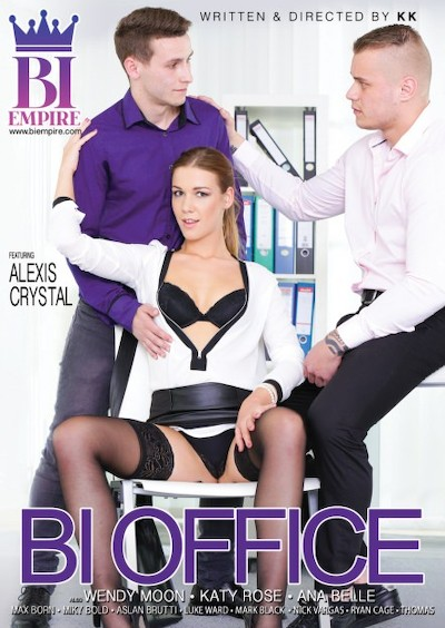 Bi Office Bisexual Orgy on Bi Empire with Alexis Crystal