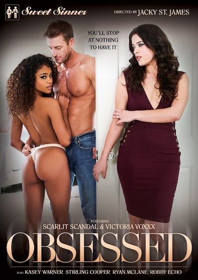 Obsessed Porn DVD on Mile High Media with Robby Echo, Ryan Mclane, Stirling Cooper, Victoria Voxxx, Scarlit Scandal, Casey Warner