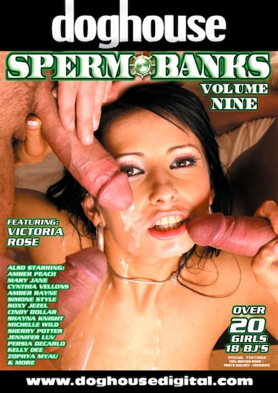 Spermbanks Vol 09 Porn DVD on Mile High Media with Ace, Andrew Andretti, Amber Peach, Amber Rayne, George Uhl, Cindy Dollar, Cynthia Vellons, Dillon Day, Jack Vegas, Michelle Wild, Mary Jane, Jean-Claude Batiste, Rod Fontana, Mr. Marcus, Persia DeCarlo, Shayna Knight, Simone Style, Sherry Potter, Roxy Jezel, Shame Ryder, Thomas, Victoria Rose, Kelly Dee, Kurt Lockwood, Jennifer Luv