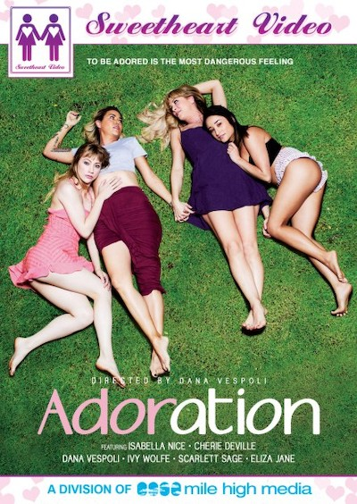 Adoration Porn DVD on Mile High Media with Dana Vespoli, Cherie DeVille, Ivy Wolfe, Isabella Nice, Scarlett Sage, Eliza Jane
