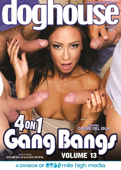 4 On 1 Gang Bangs 13 Porn DVD on Mile High Media with Alexis Crystal, Cassie Del Isla, Eveline Dellai, Charlie Dean, Matt Darco, Steve Q, Dorian Del Isla, Thomas, Mad Bundy, Brian Ragnastone