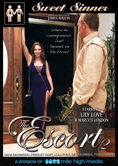 The Escort #02 Porn DVD on Mile High Media with Dana DeArmond, Lily Love, Lola Foxx, Marcus London, Presley Hart, Tyler Nixon, Seth Gamble