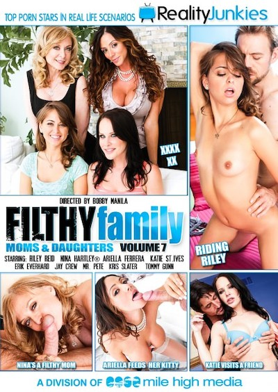 Filthy Family Volume 07 Porn DVD on Mile High Media with Ariella Ferrera, Erik Everhard, Katie St Ives, Jay Crew, Kris Slater, Riley Reid, Mr. Pete, Nina Hartley, Tommy Gunn