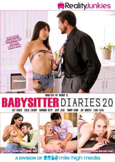 Babysitter Diaries #20 Porn DVD on Mile High Media with Diamond Kitty, Chad Alva, Chloe Cherry, Lily Rader, Judy Jolie, Jay Smooth, Tommy Gunn