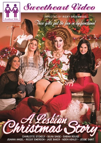 A Lesbian Christmas Story Porn DVD on Mile High Media with Aiden Ashley, Charlotte Stokely, Jade Baker, Joanna Angel, Sabina Rouge, Silvia Saige, Jessie Saint, Rocky Emerson