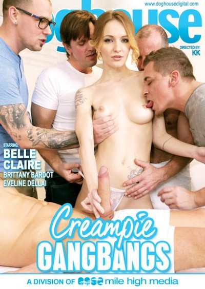 Creampie Gangbangs Porn DVD on Mile High Media with George Uhl, Eveline Dellai, Charles Deen, Belle Claire, Mark Zicha, Matt Darco, Thomas A, Steve Q, Brittany Bardot, Thomas