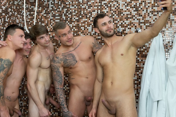 Dudes in Public 45 – Baththouse - Tony, Vito, Ryu, Ryan Cage
