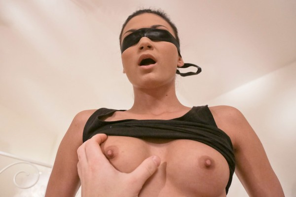 Watch Martin Gun, Keira in Blindfolded Babe Goes For A Ride On A Hard Cock