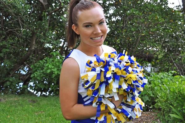 Watch Tiffany Bannister in Cheerleader Teen Home Video
