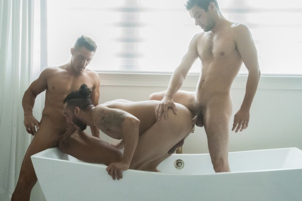 Johnny Hits the Showers Gay Porn 100% bareback on JohnnyRapid.com starring Johnny Rapid
