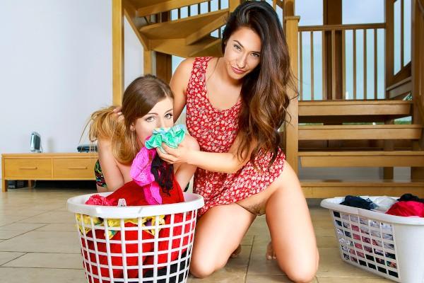 Eva's Dirty Laundry - Eva Lovia, Stella Cox