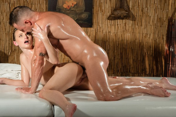 Petite nymph makes cock tremble at SexyHub.com