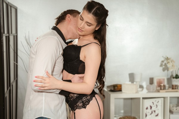 Insatiable Euro brunette rides cock at SexyHub.com