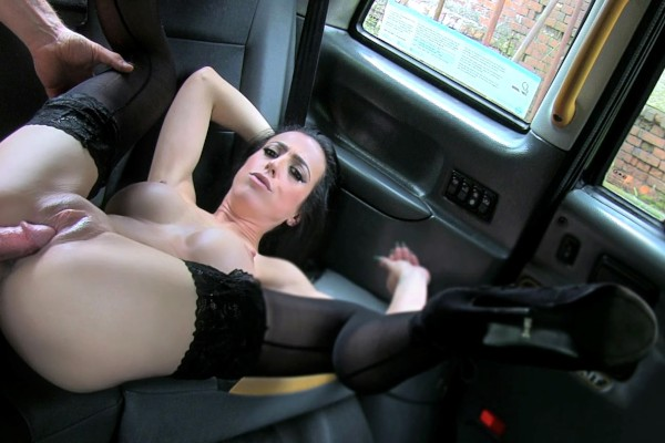 Watch in Lady With Big Tits Black Stockings