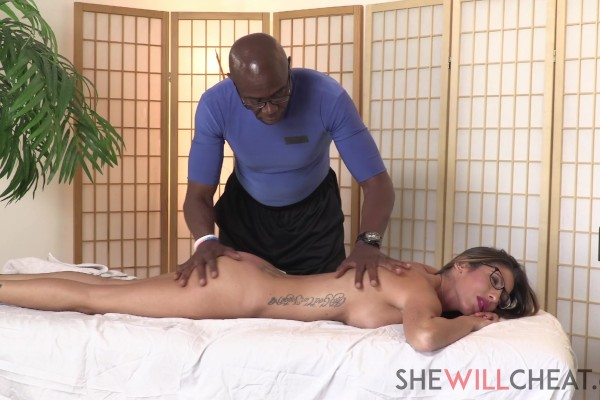 """Sexy milf Dava Foxx cheats on her husband with BBC masseur - Dava Foxx"