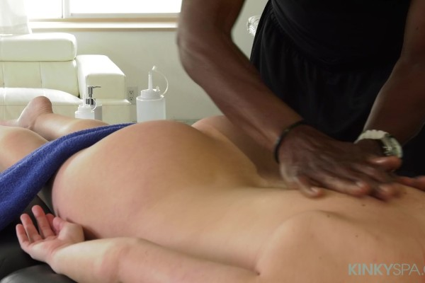 Watch Jennifer White in Jennifer White's black masseur gives her his long cock