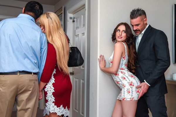 Open House For A Slut with Charles Dera, Aubree Valentine at sneakysex.com