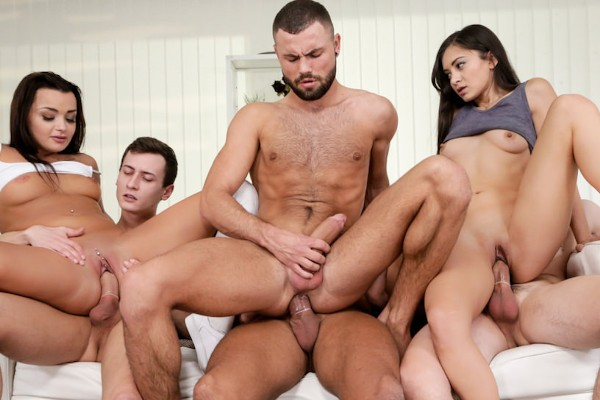 Double Dare! Scene 1 Bisexual Orgy on Bi Empire with Daphne Klyde