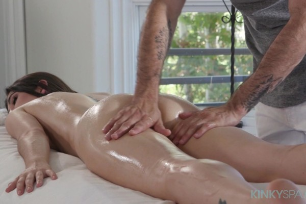 Gianna Gem gets a massage with a side of big white cock