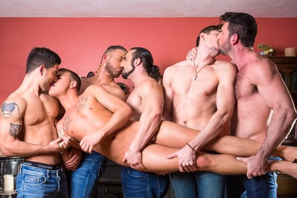 Brandon Wilde's First Gangbang Scene 1 - Billy Santoro, Brandon Wilde, Jack Hunter, Logan Moore, Vadim Black, Jaxton Wheeler