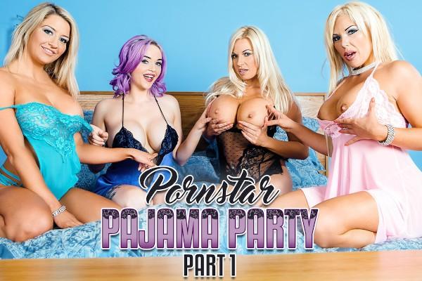 Porn Star Pajama Party Part 1 - Sienna Day, Jasmine James, Michelle Thorne, Aaliyah Ca Pelle