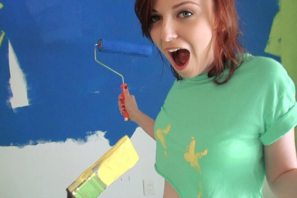 Watch Emma Ohara in Redhead Tits Painting Nude