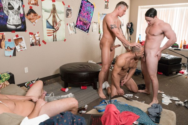 Fuck Him Until He Cums with Sheridan, Leon Lewis, Tobias, Charlie at 8thstreetlatinas.com