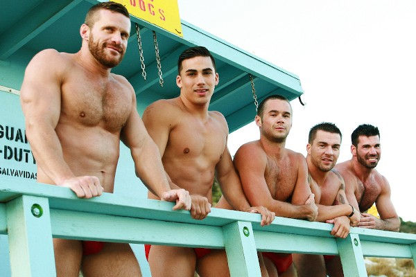 Gaywatch Part 4 - feat Topher Di Maggio, Billy Santoro, Mike De Marko, Landon Conrad, Braden Charron
