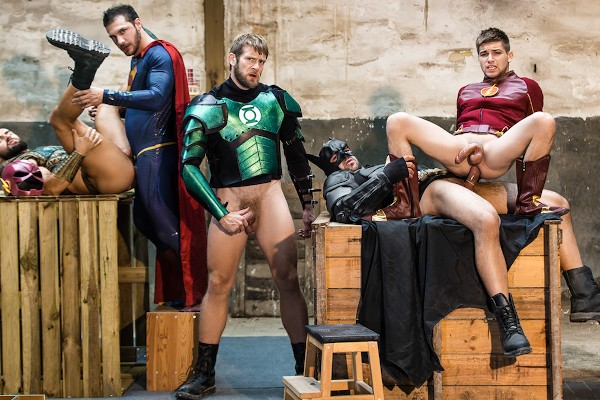 Just Dick League : A Gay XXX Parody Part 4 - feat Brandon Cody, Johnny Rapid, Ryan Bones, Colby Keller, Francois Sagat