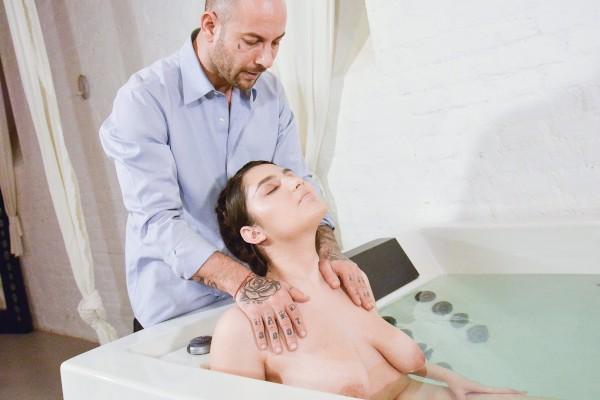 Euro teen brunette hot tub spa fuck at SexyHub.com