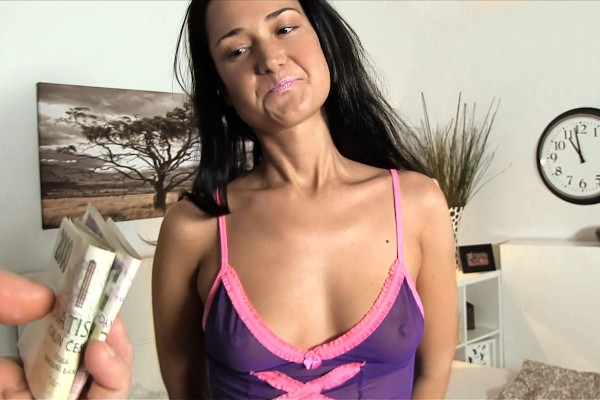 Watch Angelina Mory in Russian babe takes cash and cock