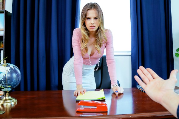 Watch Jillian Janson, Damon Dice in Spinner Inspires with Gagging BJ