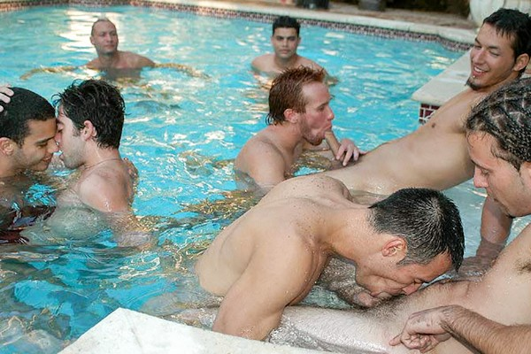 Pool Party with Joe, Miguel, Robert, Ricky, Steven Ponce, Javier at moneytalks.com
