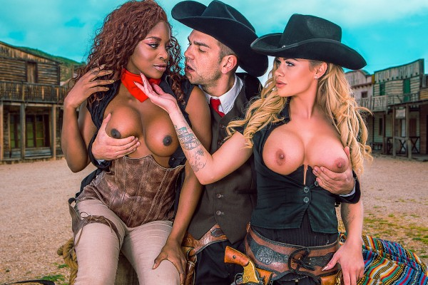 Rawhide Scene 5 - Jasmine Webb, Jessa Rhodes, Juan Lucho