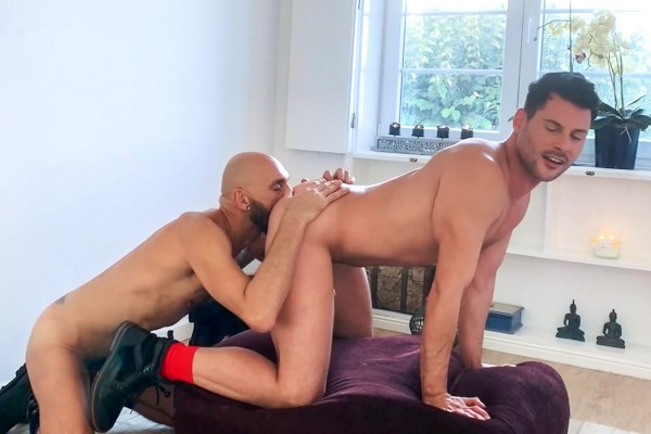 Two Hung Guys Fuck In Their Leather Boots - Philip Logan, J.P Philips