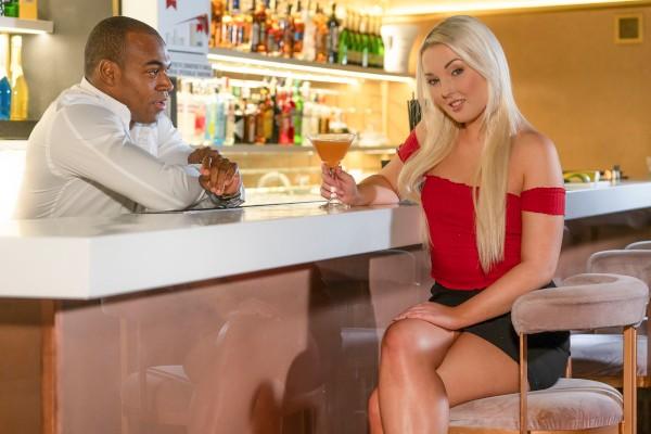 Czech blonde seduces the bartender at SexyHub.com