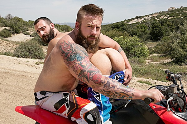 Watch Aaron Bruiser, Stephen Harte in Dirty Rider Part #1, Scene 1