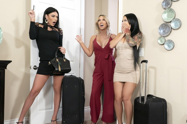 Watch Girls' Trip Part 1 featuring Katrina Jade, Kayleigh Coxx, Aspen Brooks Transgender Porn