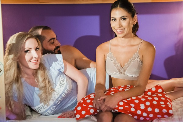 Latina au pair joins older couple at SexyHub.com