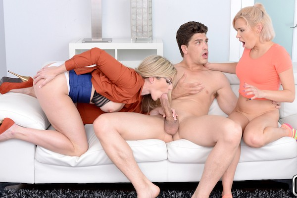 Dick For Two with Bruce Venture, Cory Chase, Kacey Jordan at milfhunter.com