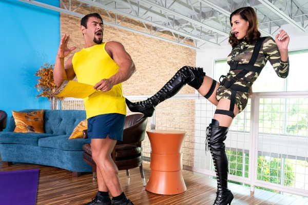 Watch Satisfying The Sergeant featuring Alexa Scout, Draven Navarro Transgender Porn