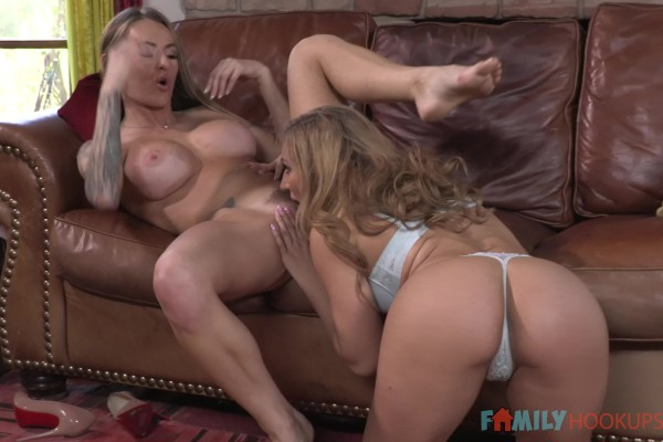 My Stepmom Made Me Squirt! with Natasha Starr, Moka Mora at milfhunter.com