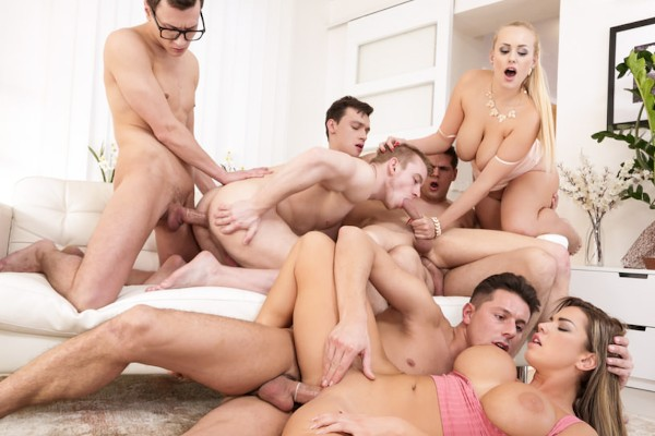 Orgies Not Swinging! Scene 2 Bisexual Orgy on Bi Empire with Alessandro Katz